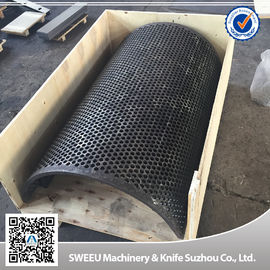 China High Wear Resistant Granulator Screens Plastic Machine Parts Anticorrosive supplier